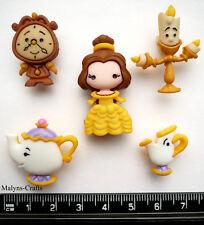 Disney BELLE & FRIENDS Craft Buttons 1ST CLASS POST Beauty and the Beast