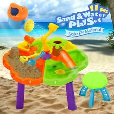 Kids Sand & Water Activity Child Play Table Stool Fun Outdoor Sandpit Toys Set
