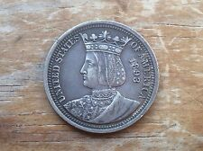 1893 Worlds Columbian exposition Isabella Quarter@@ must see@@