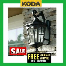 """Koda Outdoor 19"""" LED Wall Lantern - Oil Rubbed Black Front Porch Light Front"""