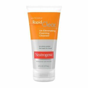 New Neutrogena Rapid Clear Oil-Eliminating Foaming Cleanser 6 fl oz