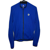 Castelli Cycling Race Jersey Mens Large Long Sleeve Full Zip Jacket Pockets Blue