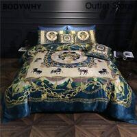 Luxury Bohemia Egyptian Cotton Silky Bedding Set 6Pieces Quilt/Duvet Cover Set