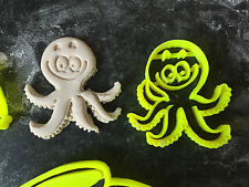 octopus sea animals set Cookie Fondant Cutter Cupcake Cake Decoration Gift Badge
