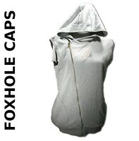MD GRAY Hoodie Sleeveless Gray Full Zip Up Foxhole Caps Double Layered Core Area
