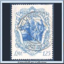 1942 Italia Regno Galileo Galilei L. 1,25 azzurro grigio e azzurro n. 465 Usato