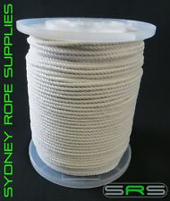 4MM Macrame rope cord x 220mtr Reel 100% NATURAL COTTON CORD, FREE DELIVERY