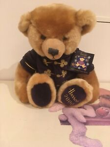 """Harrods 2000 Christmas Teddy Bear 13"""" Collectable With Original Tags"""