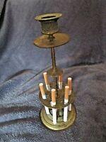 Rare-ancien grand pyrogène de bar en laiton-nécessaire à cigarettes-Napoléon III