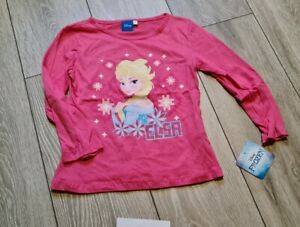 Girls Brand New Frozen Long Sleeve Top Size 7-8 Years
