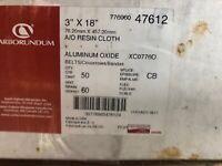 "CARBORUNDUM 34100 FASTCUT RESIN CLOTH 2/""x 25-1//2/"" SANDING BELTS 50//cs"