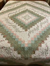 """WOW Vintage Trip Around The World W Embroidered Accents Quilt 103""""x90"""" King #179"""