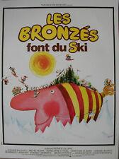 LES BRONZES FONT DU SKI Affiche Cinéma ROULEE 53x40 cm Movie Poster Retirage 90
