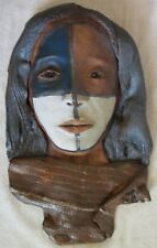 Native American wall sculpture of women signed and dated