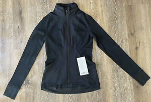 NWT Lululemon Far and Free Jacket Size 6 in Color Black