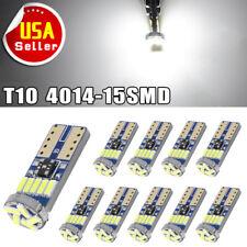 10x Super White T10 194 192 168 LED Interior Map Dome License Plate Light Bulb