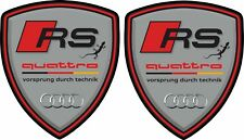 Audi RS3 RS4 RS5 RS6 RS Q3 Quattro 80mm Wing Decals Stickers styling graphics