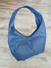 Blue Leather Hobo Bag, Women Shoulder Handbag, Alyna
