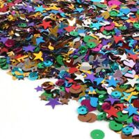ASSORTED SPARKLY SEQUINSMixed Shapes Iridescent Multicoloured Glitter 2000