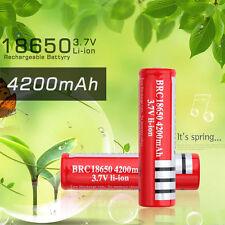 18650 Li-ion 4200mAh Capacity 3.7V Rechargeable Battery for Flashlight ZJUS