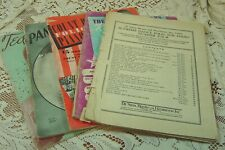 VINTAGE LOT OF 5 1940'S PIANO MUSIC ANDREWS SISTERS TED DAFFAN PAN AMERICANA