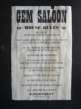 OLD WEST DEADWOOD HOTEL GEM SALOON STAR & BULLOCK HARDWARE REWARD 9 AGED POSTERS