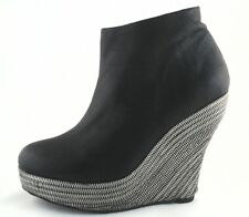 JEFFREY CAMPBELL Boots Bootie Turino Ticket Wedges Women's US 9 EU 41.5 $180