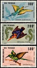 ✔️ CHAD 1966 -  FAUNA BIRDS TOP SET ! - MI. 163/165 ** MNH OG [A302902B]