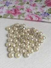 10 Pcs 8mm DIY Sewing Round Pearl Button Clothing Accessories Fit Sewing (288)