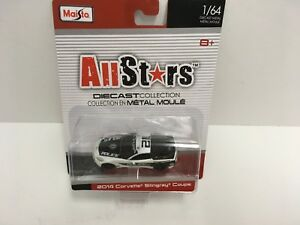 Maisto 1/64 Diecast Metal 2014 Corvette Stingray Coupe Police Allstars Series 14
