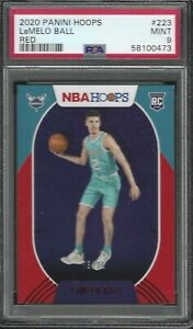 2021 Panini NBA Hoops LaMelo Ball RC #223 Red Parallel /75 PSA 9 Hornets POP 1