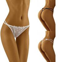 String sexy ficelle femme noir blanc lingerie maracca WOLBAR FR 34 36 38 40