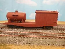 HO SCALE UNDECORATED MOW WATER TANK TENDER WOOD CRAFTSMAN BUILT