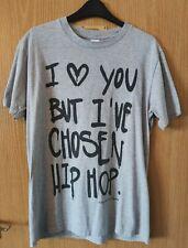 Para Hombre Hip Hop camiseta Medio Gris de construcción Records en muy buena condición trampa de música rap superior