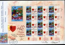 ISRAEL 2010 DINA GORBAN 'SHAVOUT' PAINTING  PERSONALIZED  SHEET FDC