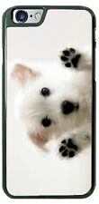 Cute White Puppy Dog Terrier Paws Open Phone Case for iPhone Samsung LG Moto etc
