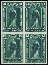 R173, Mint NH/H $1 Scarce Block of Four Revenue Stamps - Stuart Katz