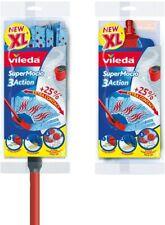 Vileda Supermocio 3 Action XL MOP with extra FREE Refill (25% Extra Contact)