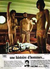 Publicité advertising 1972 Sous vetements slip homme HOM