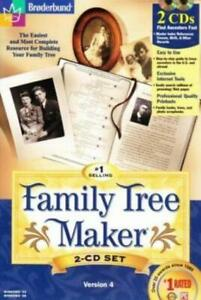 Family Tree Maker 4 PC CD easy to use genealogy history research relatives tools