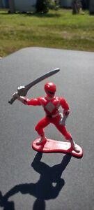 """Vintage Power Rangers 3"""" figure Red Ranger PVC Mini Figure 1993  Cake Topper"""