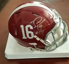 Tua Tagovailoa Signed Alabama Crimson Tide Autographed Mini Helmet JSA CERTIFIED