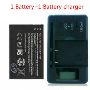 New For Nokia BL-4UL 225 230 3310 Asha 500 1200MAH Battery+charger