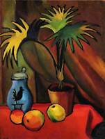 AUGUST MACKE STILL LIFE WITH PALMS OLD MASTER ART PAINTING PRINT POSTER 320OM