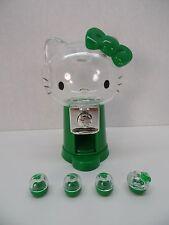 "3"" Miniature Bandai Hello Kitty Capsule Japanese Vending Machine (Green)"