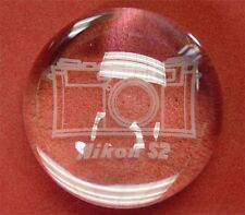 Nikon RF S2 Crystal Paper Weight ...........  Minty / Rare !!