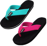 NORTY Women's Thong Flip Flop Sandal for Beach, Pool and Everyday - 2 Colors