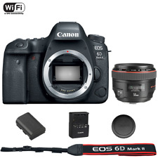 Canon EOS 6D Mark II DSLR Camera Body + EF 50mm f/1.2L USM Lens Kit