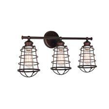 Design House 519736 Ajax 3-Light Textured Coffee Bronze Indoor Vanity Light
