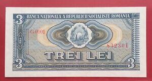Romania 3 LEI 1966 P# 92a   SUPER CONDITION!!!